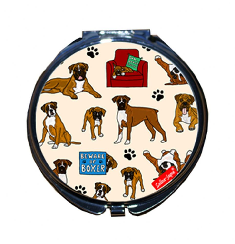 Selina-Jayne Boxer Dog Limited Edition Designer Compact Mirror
